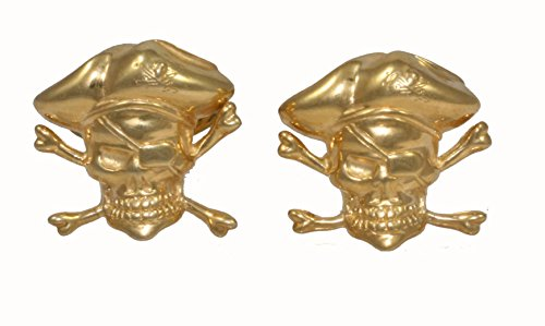 CUFFLINKS PIRATES URSO LUXURY IN STERLING SILVER 925 GOLD PLATED AND ENAMELS by Urso Luxury