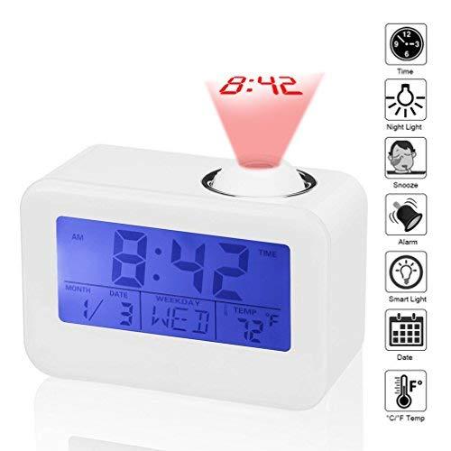 Reloj despertador digital, dewanxin Control Acústico Proyector ...