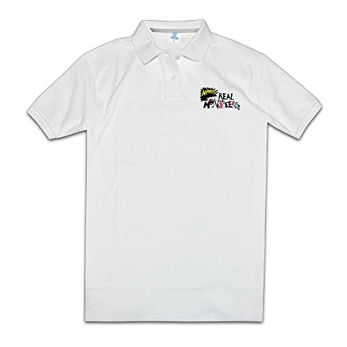 Polo Shirt Aaahh!!! Real Monsters Comedy Horror Man's Tshirt Design