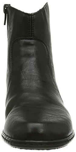 Boots L Zipper Black Rieker Womens Black qFHn1pW