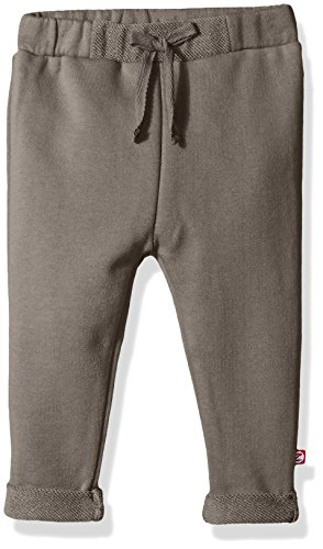 Zutano Baby Boys' French Terry Roll Up Pant, Gray, 12 Months