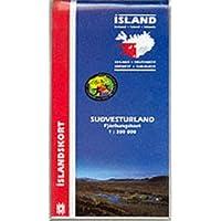 Straßenkarte Island Südwest 1:300 000: Sudvesturland, Fjördungskort. Mit Informationen und Farbfotos. (Maps of Iceland)