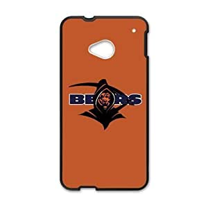 Hoomin Orange Chicago Bears HTC One M7 Cell Phone Cases Cover Popular Gifts(Laster Technology)