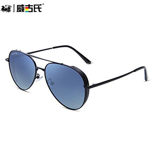 marco Sand de Ash de Frame la de gafas púrpura gafas personalidad Black sol sol nuevas gafas polarizadas hombres de conducción KOMNY de Gradual tendencias de sol masculina sol gafas dorado wq4RBqx