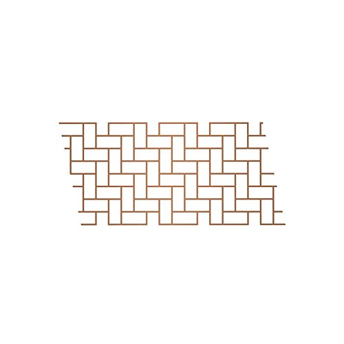 BonWay 32-242 33-Inch by 365-Feet Paper Stencils for Decorative Concrete, Herringbone ()