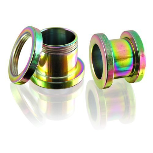 rainbow-screw-fix-stainless-steel-double-flare-ear-tunnels-stretchers-10mm-by-desire