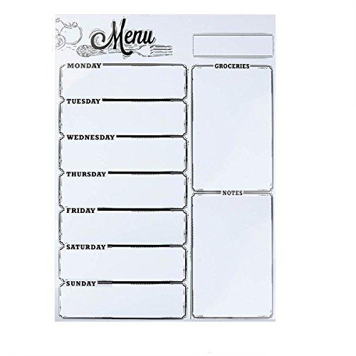 Weekly Board Loftstyle Magnetic Refrigerator Chalkboard Weekly Menu Meal Planner Dry Erase Board For Refrigerator Dinner List Note Schedule Board Shopping List Memo Board 16