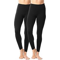 90 Degree By Reflex - High Waist Power Flex Legging - Tummy Control Black 2 Pack - XL