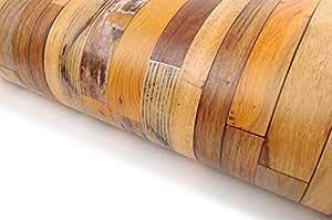 Very Berry Sticker Reclaimed Wood Distressed Wood Panel Wood Grain Self-Adhesive Peel-Stick Wallpaper (VBS305)