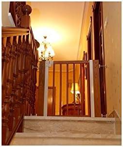 Barrera de seguridad para escaleras y puertas, de madera, seguridad para el bebé: Amazon.es: Bebé