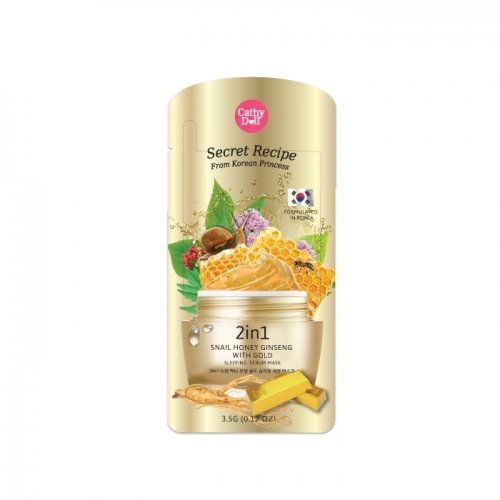 2in1 Snail Honey Ginseng with Gold Sleeping Serum Mask 3.5g Cathy Doll Secret Recipe - Dr Song Teeth Whitening Trays