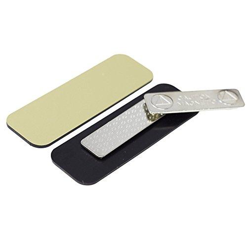 Name Tag/Badge Blanks - 10 Pack - Brushed Gold 1