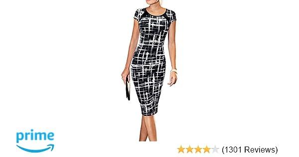 6bfa0521d LunaJany Women s Casual Striped Print Wear to Work Office Career ...