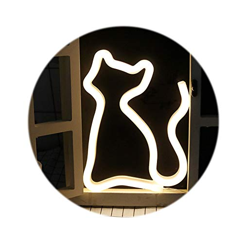 LED Neon Light Signs,Wall Decor Holiday Decor Light for Kids Room Decorations Birthday Party Light (cat)