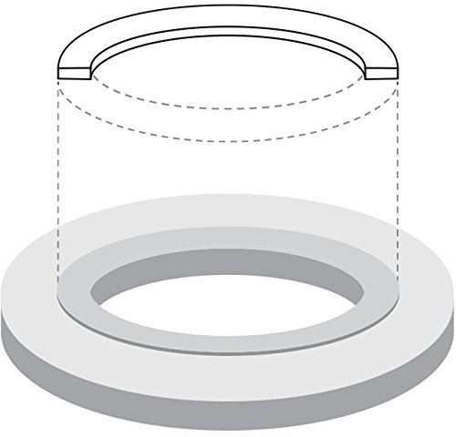 1//8 Thick USA Sealing Ring Viton Rubber Flange Gasket for 4 Pipe Class 150