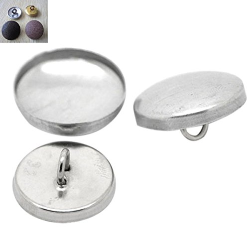 HOUSWEETY Aluminum Buttons 19mmx19mm 17mmx17mm
