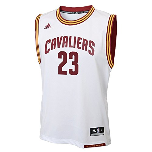 LeBron James Cleveland Cavaliers NBA Adidas Youth White Home Replica Jersey (Size Medium (Youth Replica Adidas Nba Jersey)