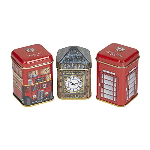 Traditions of London Triple Tea Selection Mini Tin Gift Pack (Christmas Day Afternoon London Tea)