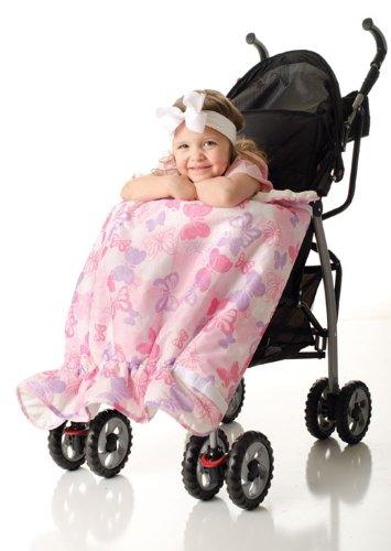 Image of the Bumkins Waterproof Stroller Blanket, Butterfly