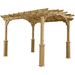 Suncast PA1012 Wood Pergola, 10' by 12'