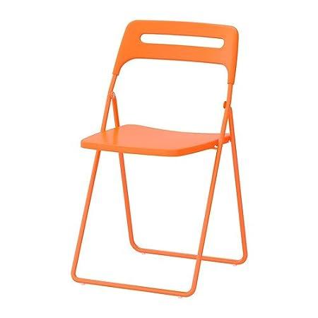 Ikea Sedie Pieghevoli Nisse.Nisse Ikea Sedia Pieghevole Scegli Il Colore Arancione Amazon