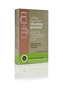 Full Circle Coffee Machine Cleaning Powder, 3 Single Use Packets