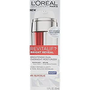 L'Oréal Paris Revitalift Bright Reveal Dual Overnight Moisturizer, 1 fl. oz.