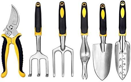 Gardening Hand Tools COZYSWAN Garden Tool Set 6 Pcs with Carry Bag ...