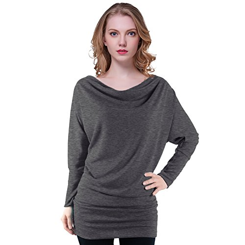 Long Sleeve Cowl Neck Top - 8