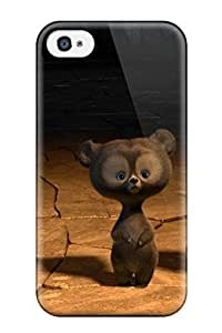 Brand New 4/4s Defender Case For Iphone (brave Triplets Bears)
