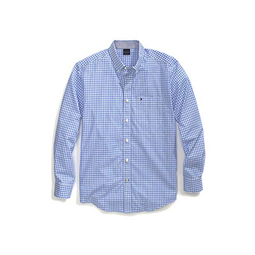 ive Men's Magnetic Button Shirt Custom Fit, Collection Blue, XX-Large ()