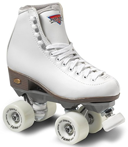 Sure-Grip Fame Indoor Roller Skates - White - Size: 8