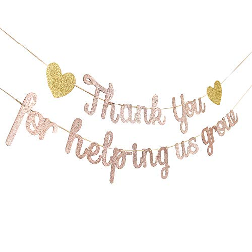 Teacher Appreciation Sign Thank You for Helping us Grow Banner Rose Gold Greenary Thank You Congrats Signs Graduation Party Decorations Thankful Teacher Family Party -