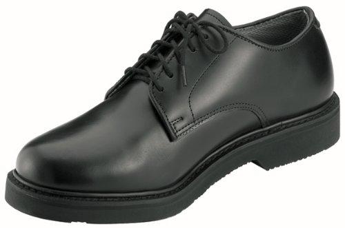 Rothco Soft Sole Uniform Oxford/Leather Shoe, Black, 5