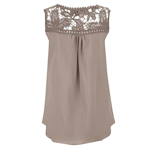 Blouses,Toraway Women Lace Splice Chiffon Sleeveless Vest Tops Tank Shirts