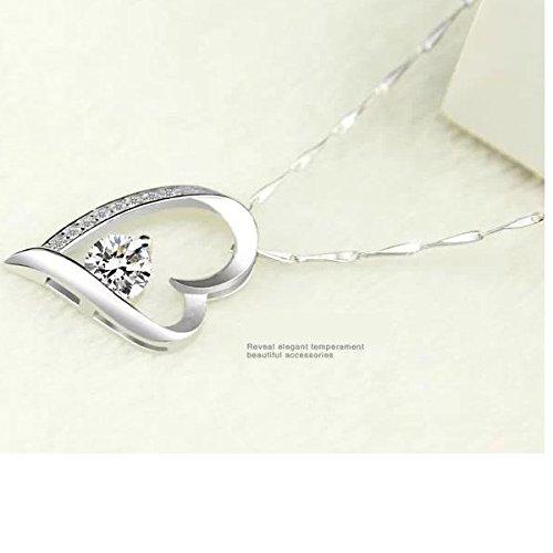 14k White Gold Overlay Sterling Silver Forever Lover Heart