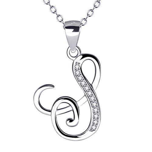 YFN Sterling Zirconia Alphabet Necklace