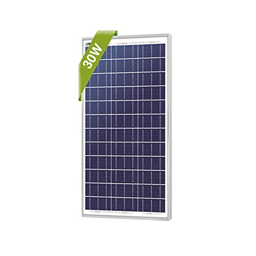 Newpowa 30W Monocrystalline Solar Panel With 3ft Wire, RV Marine Boat Off Grid (30W Mono)