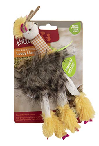 Petlinks Happynip Loopy Llama Plush Happynip Catnip Cat Toy