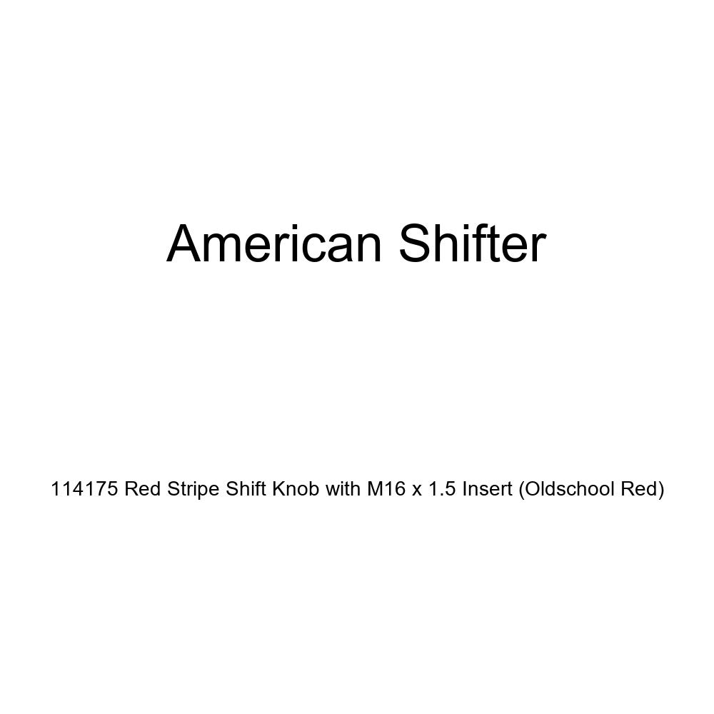 Oldschool Red American Shifter 114175 Red Stripe Shift Knob with M16 x 1.5 Insert