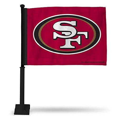 Rico NFL San Francisco 49ers Car Flag with Black Pole ()