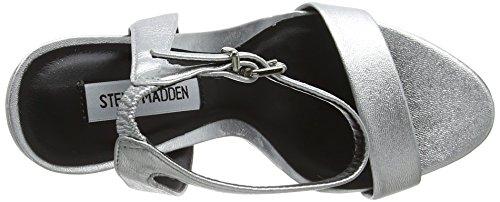 Damen Steve High Riemchensandalen Heel Madden Silberfarben Sandal Landen B5w5zqR