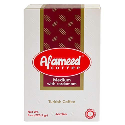 - Al Ameed Turkish Ground Coffee, 8 OZ (Medium Roast with Cardamom)