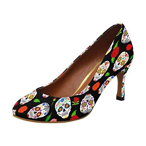INTERESTPRINT Classic Dress Pumps Soft Walking High Heels