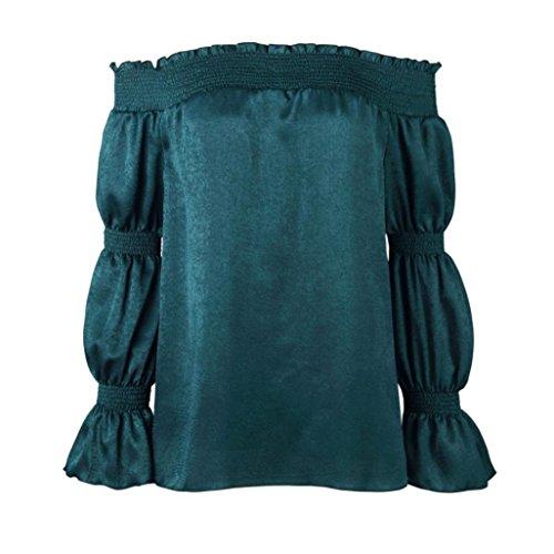 Witsaye Blouse Manches bleu Femmes Longue Sans Avec Haut Manches À Automne Longues rwCXqr