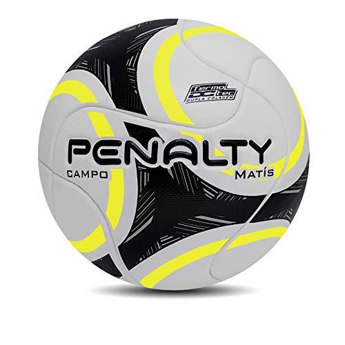 Bola De Futebol De Campo Matis Ix - Branco-Amarelo-Preto