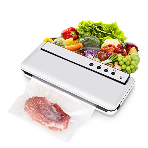COMRUAK Vacuum Sealer Food Saver: Automatic Small Compact Large Big Wide Airtight Cheap Quiet Professional Vacuuming Kit Vegetable Steak Meal Canister Jar Can Dry Wet Best Commercial Air Seal Machine