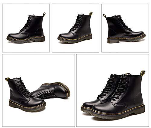Noir Martin Adulte Bottines Pu Lacets Outdoor 1 Femme Cuir Homme À Classiques Bottes Doublé Chaussures Mixte Sport Hiver xtZ1Hg1