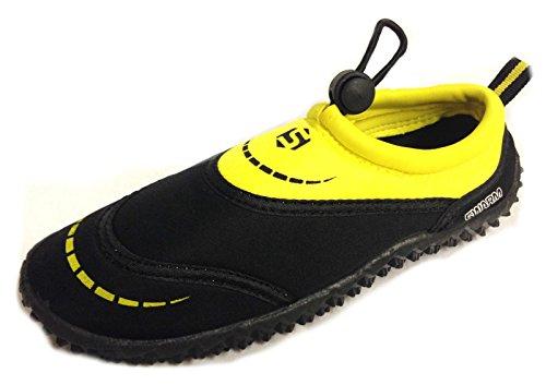 Swarm Palanca De Childs Traje de buceo Zapatos Aguamarina - Tallas UK13 - UK4 Negro, amarillo