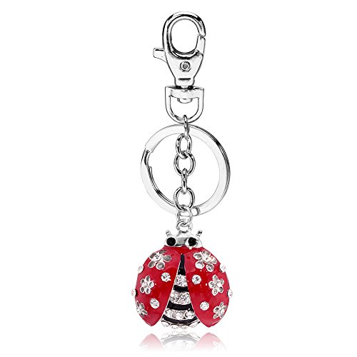 Liavy's Ladybug Charm Fashionable Keychain - Sparkling Crystal - Unique Gift and Souvenir